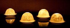Porzellan-Lithophanie-Windlichter