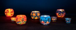 Glowing Millefiori Glass Bowls