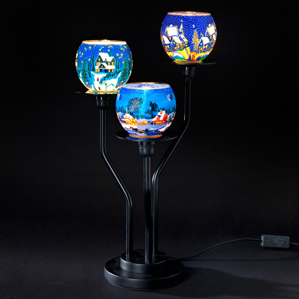 Millefiori 3 Arm Table Lamp Winter Blue Casa Millefiori