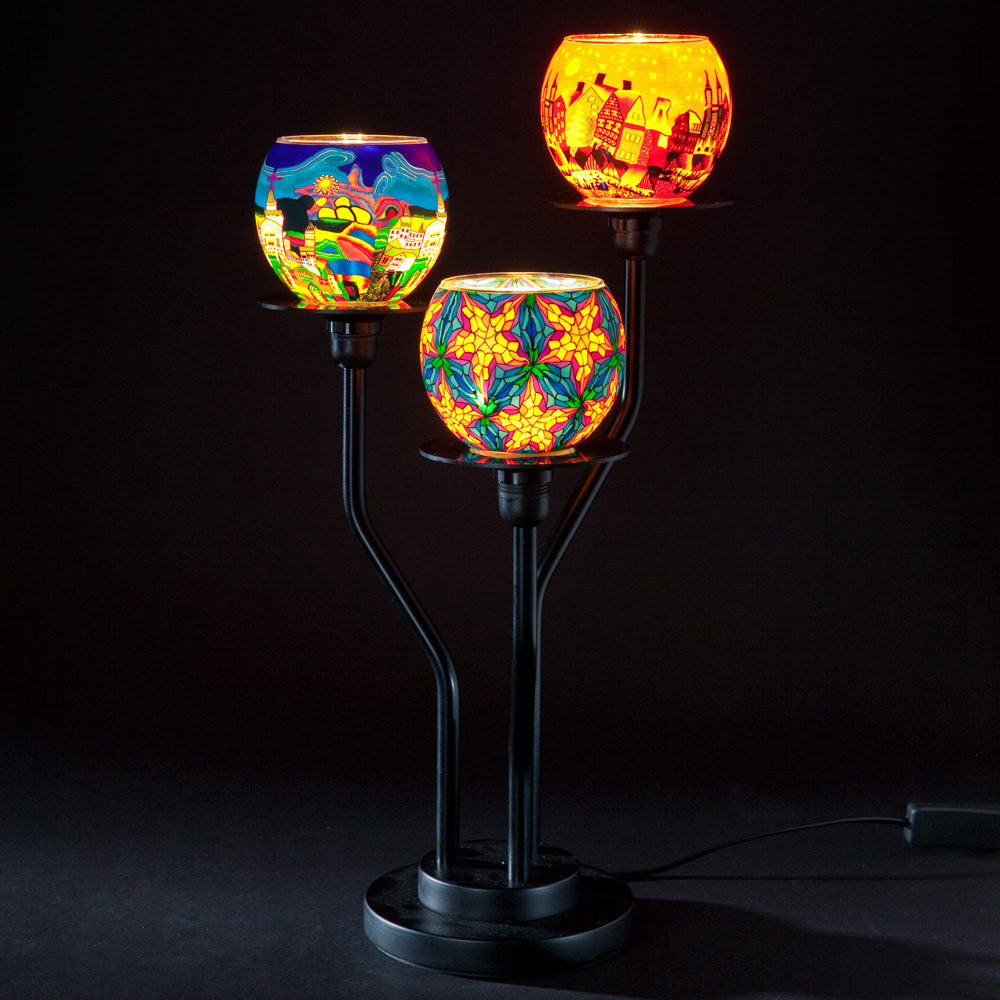 Millefiori 3 Arm Table Lamp Summer Colors Casa Millefiori