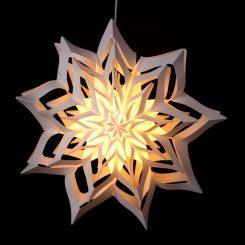 Handgearbeitete Design-Leuchtsterne aus Papier