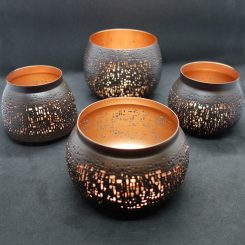 illoomi gestanzte Leuchtschale Kupfer
