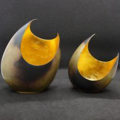 illoomi Leuchtschale Mond modern Blattgold
