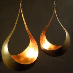 illoomi Leuchtschale zum hängen Blattkupfer