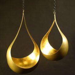 illoomi Leuchtschale zum hängen Blattgold