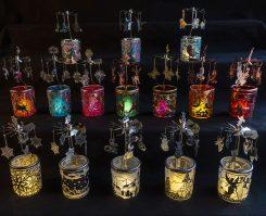 Carosellos en verre coloré