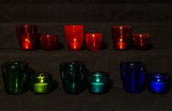 Mouth-Blown Color-Glass Windlights